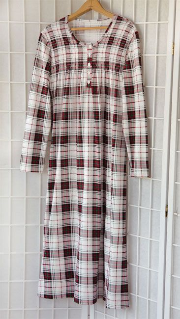 8f9a30bcb1 Just found this Red Plaid Cotton Nightgown - Smocked-Bodice Soft-Knit Plaid  Gown -- Orvis on Orvis.com!