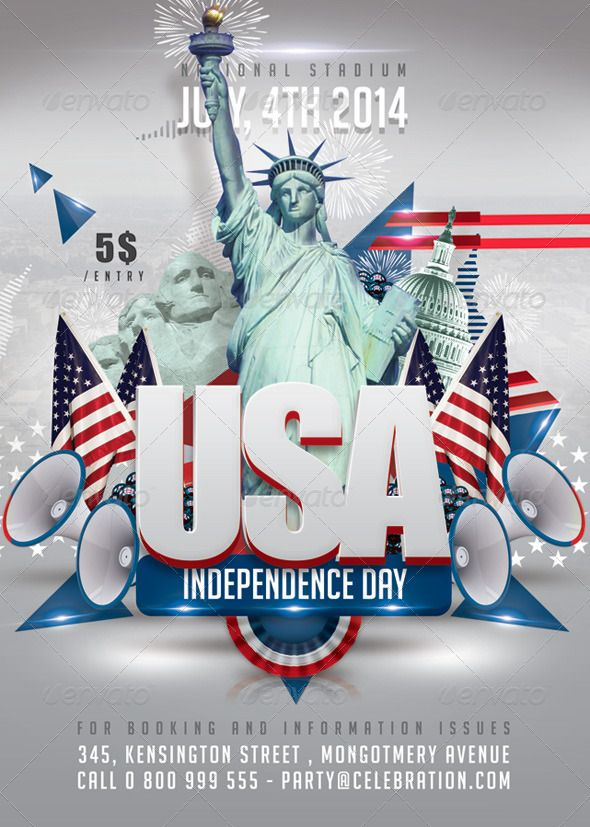 Usa July 4th American Independence Day American independence