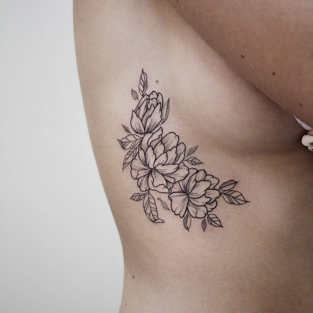 Flower Jasmine Tattoo On Ribs Side Boob Ibtattooing Jasmineflower