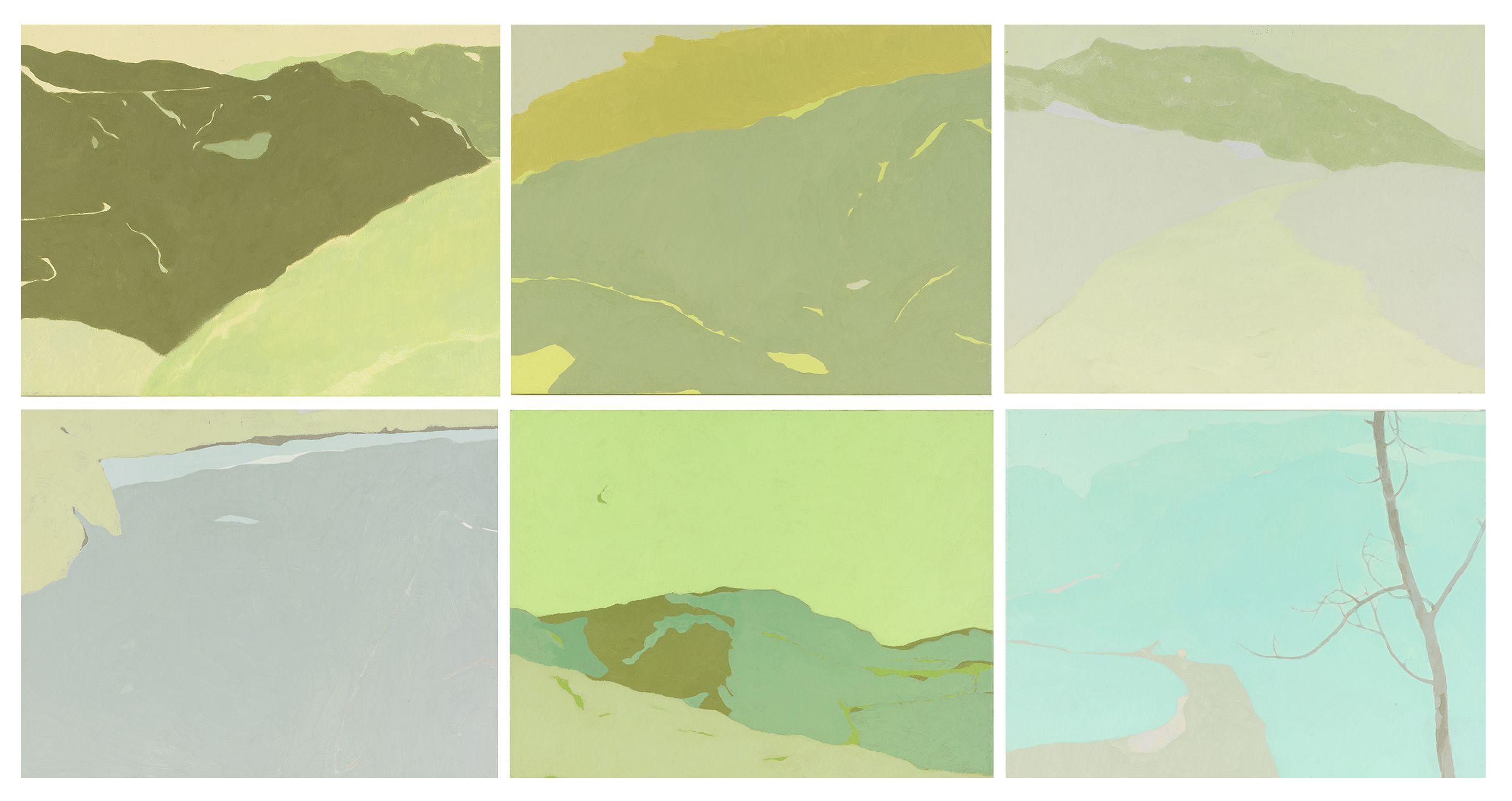 輕。風景系列   柯偉國   壓克力畫   54 x 105 x 3 cm