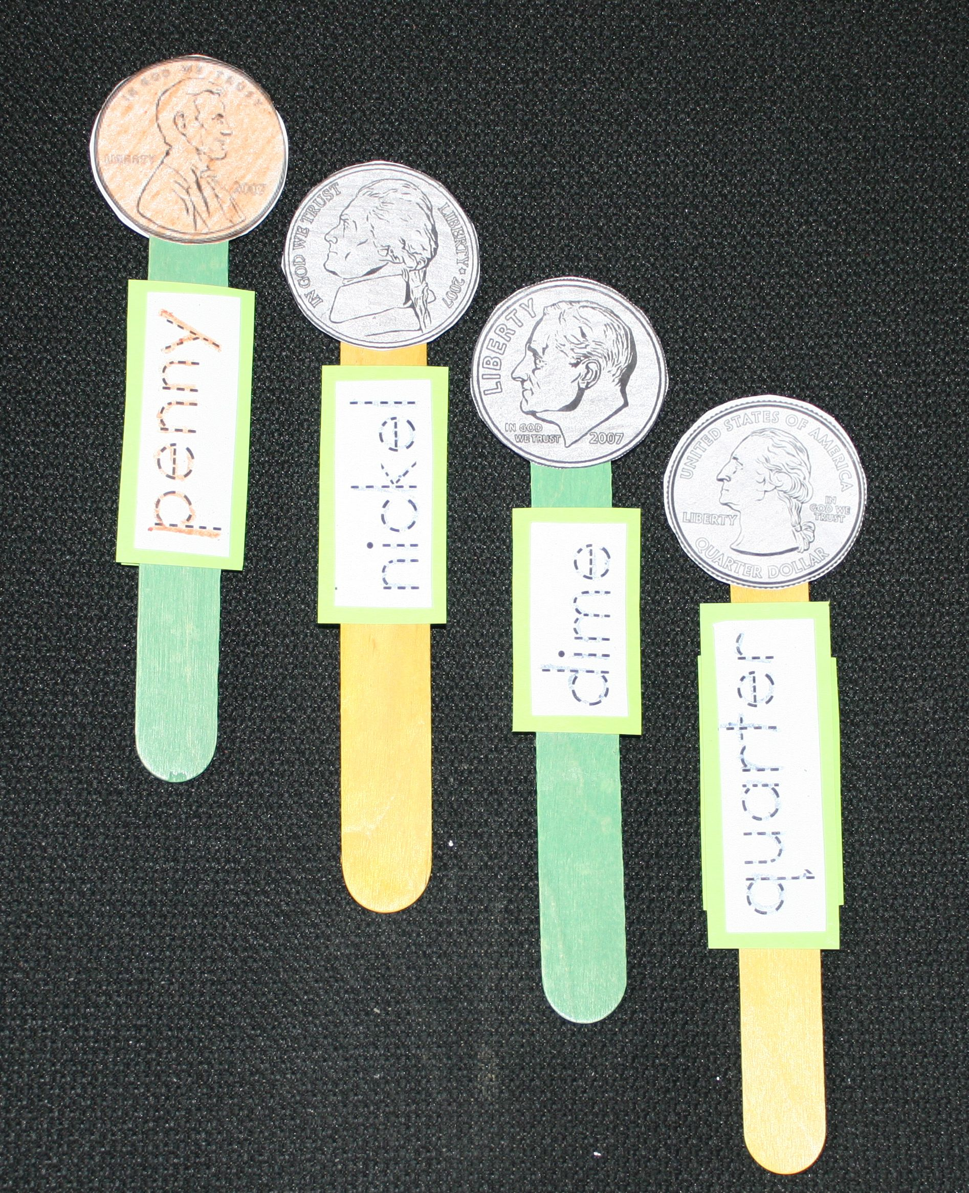 President S Day Activities 4 Coin Popsicle Stick Puppets