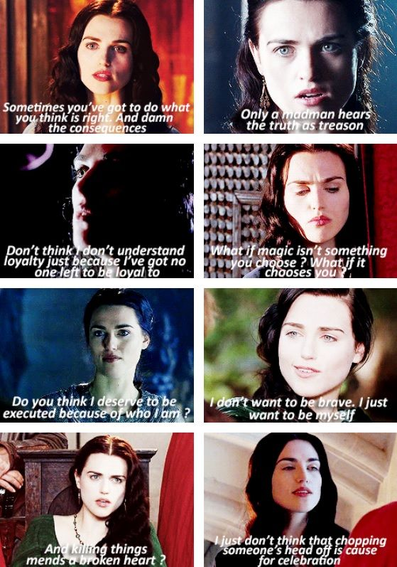 Morgana  I think the scene from Tears of Uther Pendragon