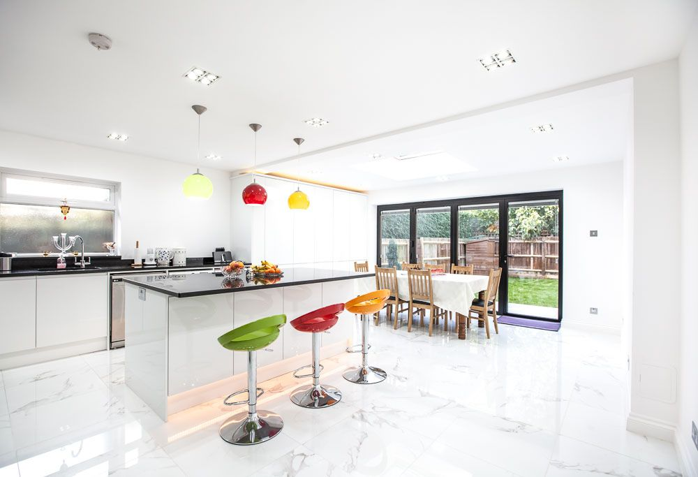 Kitchen Extension Design Ideas Part - 38: Single-storey Extension And Garage Conversion In Kingston By Lu0026E (Lofts And  Extensions)