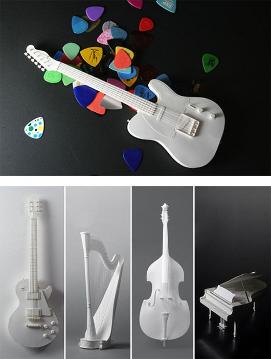 paper musical instruments 007eye candy cool color