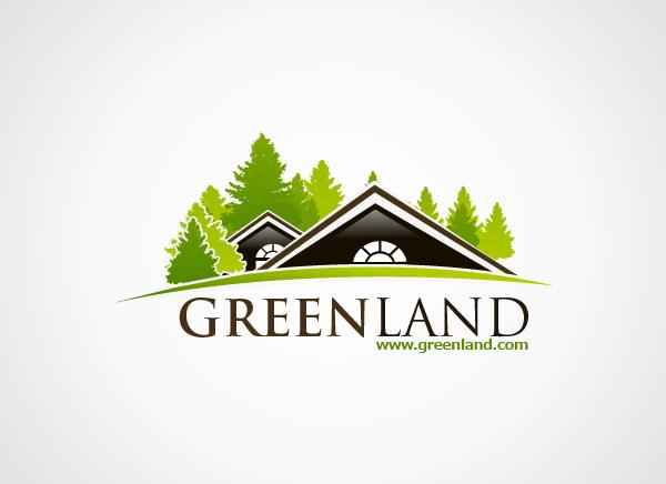 Green Land Logo Design | Real Estate Logo Design | Pinterest ...