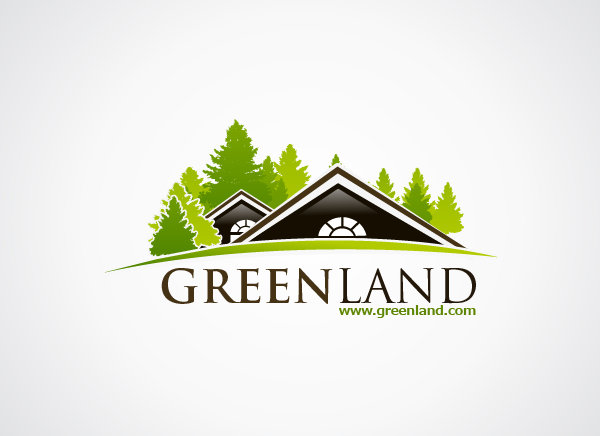 Green Land Logo Design Real Estate Logo Design