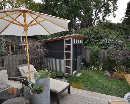 Patio Garden Designs Modern Shed Living Space With Outdoor