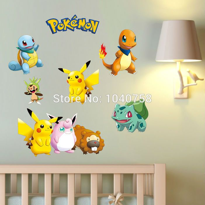 Pokemon Wall Stickers For Kids Rooms Home Decorations Pokemon