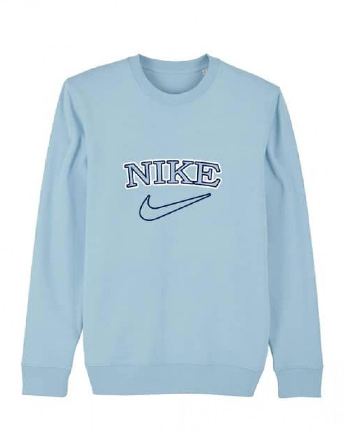 Vintage Tick Womens Sweater Vintage Nike Sweatshirt Baby Blue Shirt Sweaters For Women [ 1376 x 1100 Pixel ]