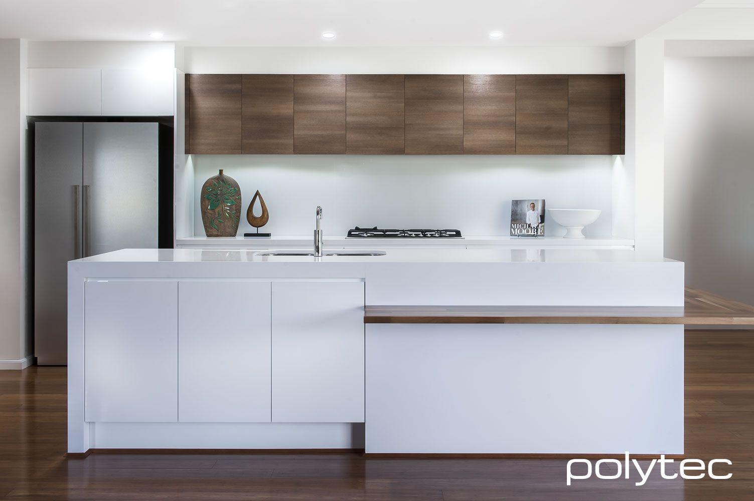 Doors in createc ultra white overhead cupboards in ravine for Overhead kitchen cupboards