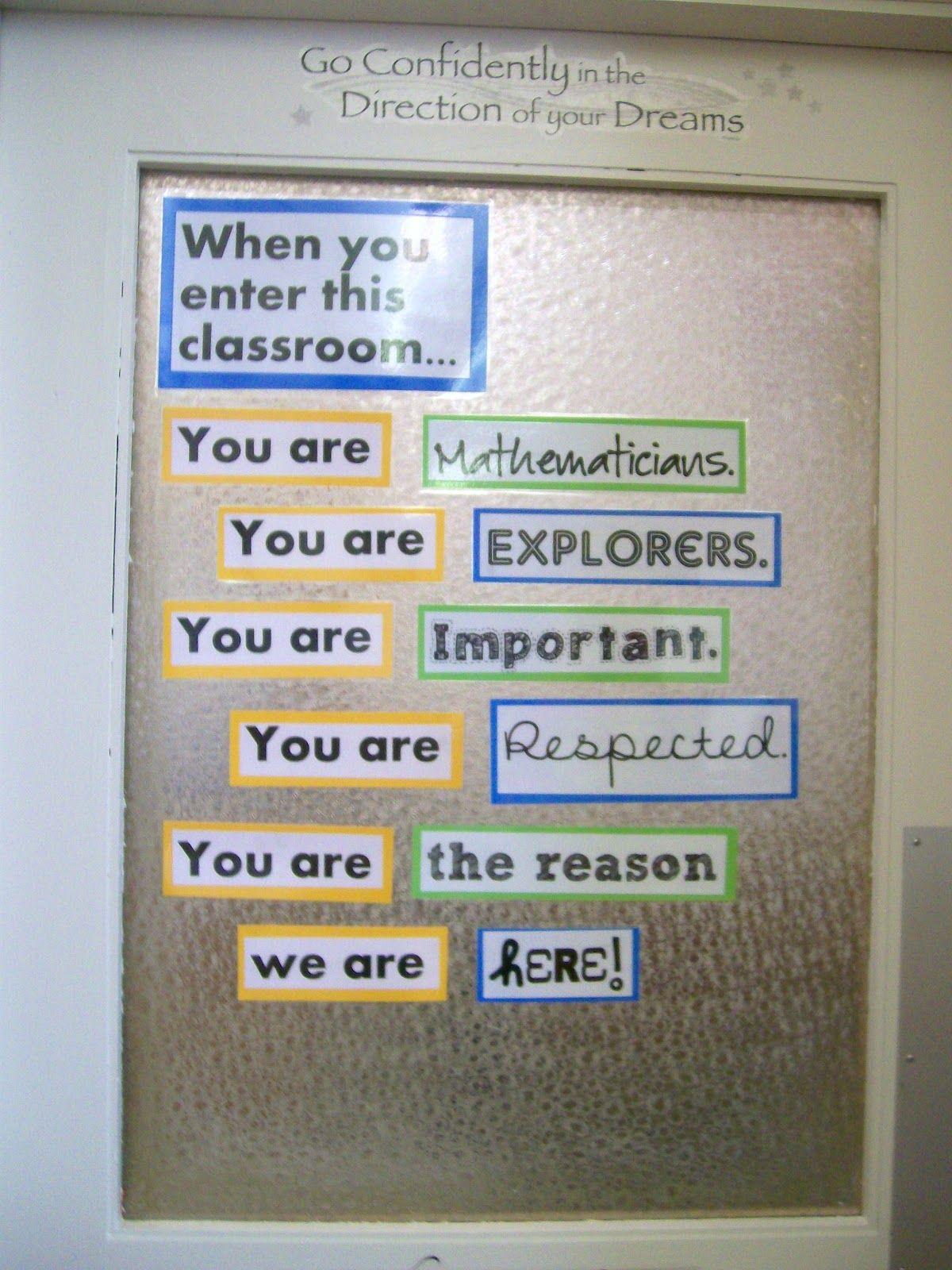 Classroom Love And Door Decoration Download Math Classroom