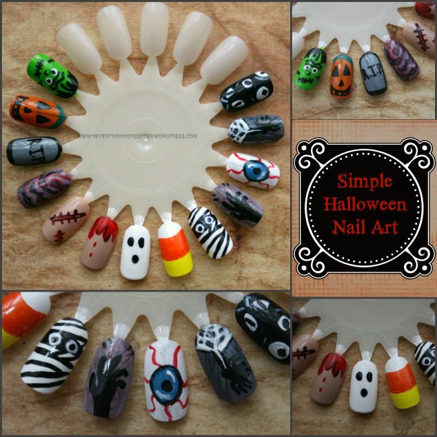 Simple and fun halloween nail art for spooky diy manicures diy simple and fun halloween nail art for spooky diy manicures solutioingenieria Image collections