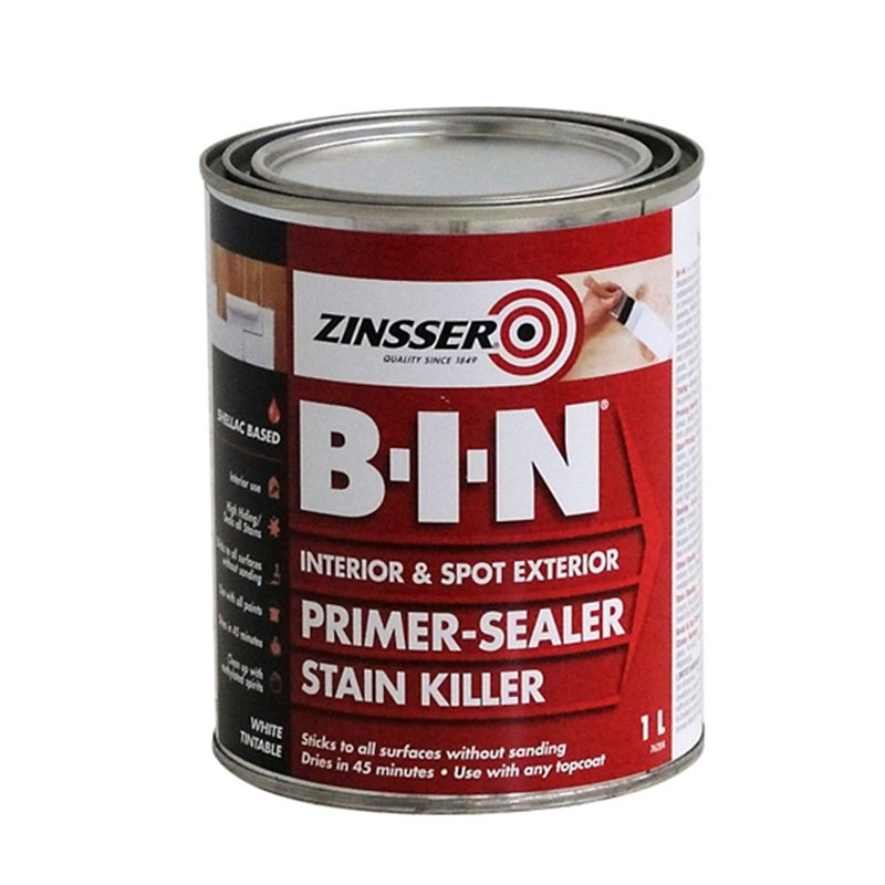 Zinsser 1L B-I-N Primer Sealer Stain Killer - go to product for painting IKEA furniture apparently
