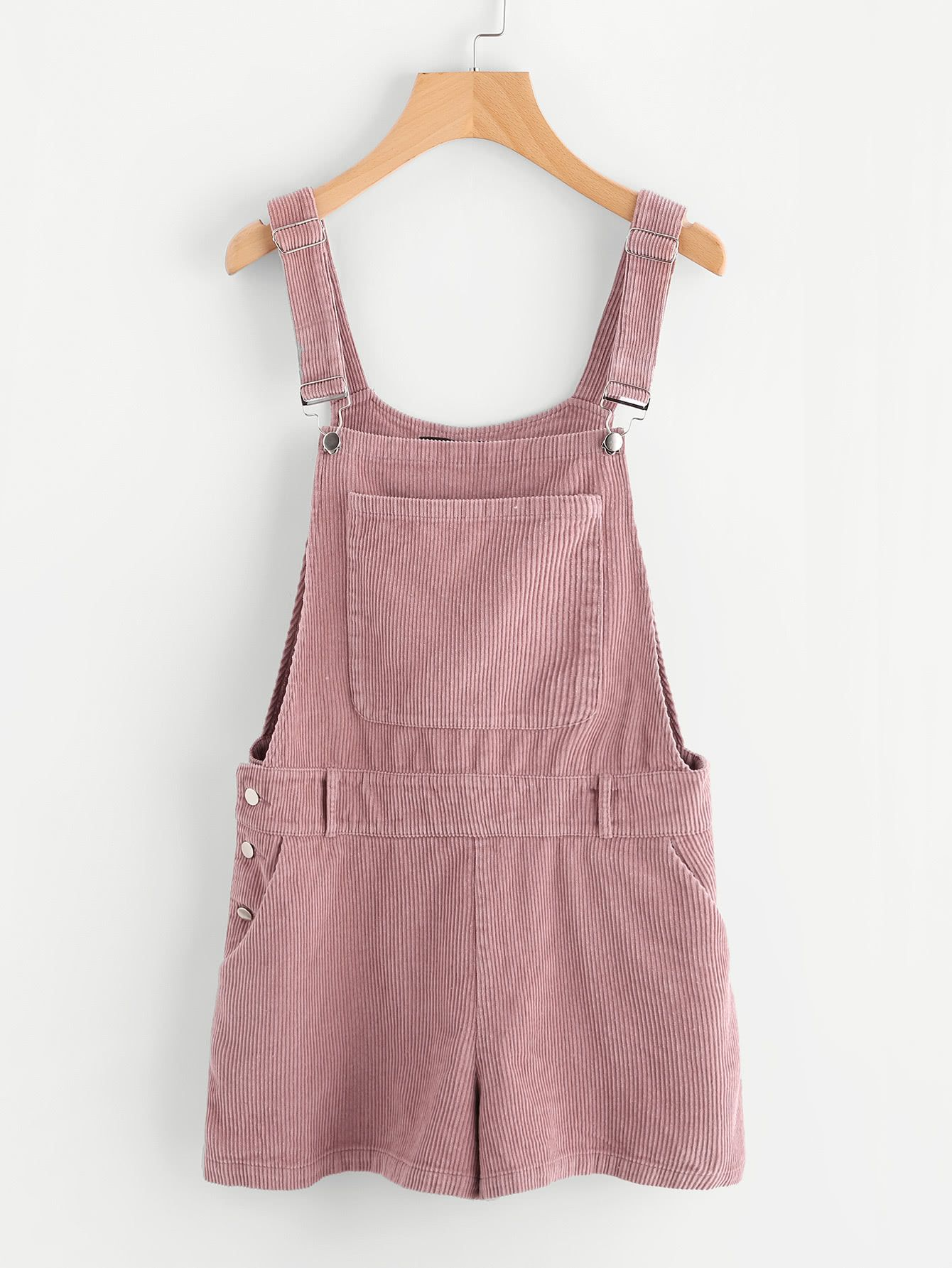 caa25024e8 Shop Bib Pocket Front Cord Overall Shorts online. SheIn offers Bib Pocket  Front Cord Overall Shorts   more to fit your fashionable needs.