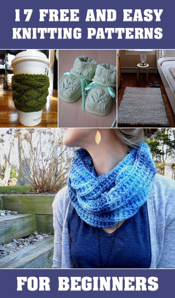 17 Free And Easy Knitting Patterns For Beginners   knitting patterns ...