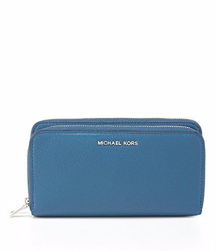 e2fe8a620318c8 MICHAEL by Michael Kors Adele Steel Blue Double Zip Wallet *** More info  could be found at the image url. #WristletWallet