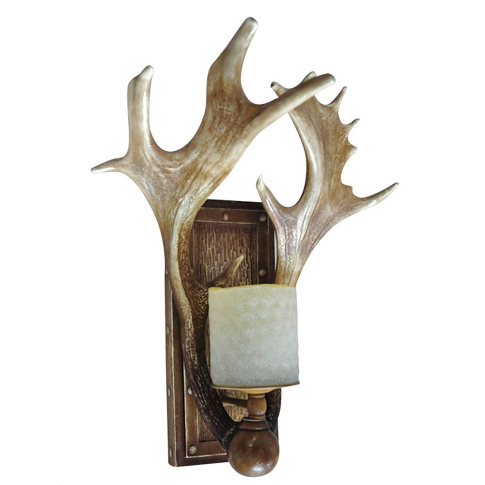 Deer Antler 1 Light Wall Sconce