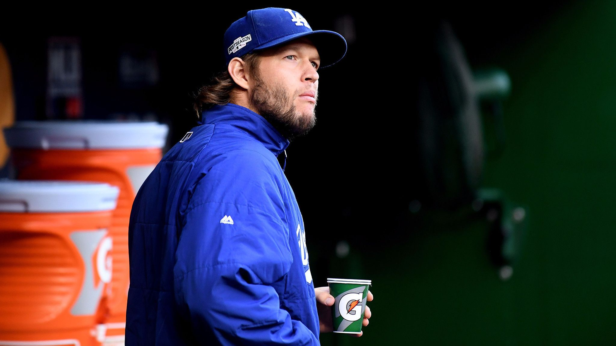 Dodgers' Clayton Kershaw conquers his demons, if not the Nationals, in gritty 4-3 Game 1 win - LA Times