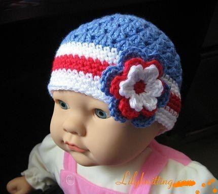 PATTERN in PDF Crocheted baby flapper beanie by LilyKnitting, $6.99