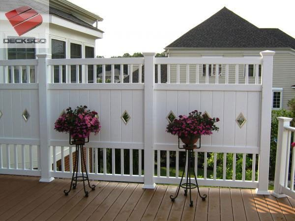 Privacy Railing Panel Photo Deck railings, Decking and Railing ideas