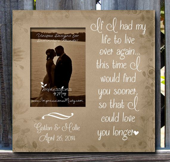 Custom Photo Frame, Personalized Gift, Engagement Gift