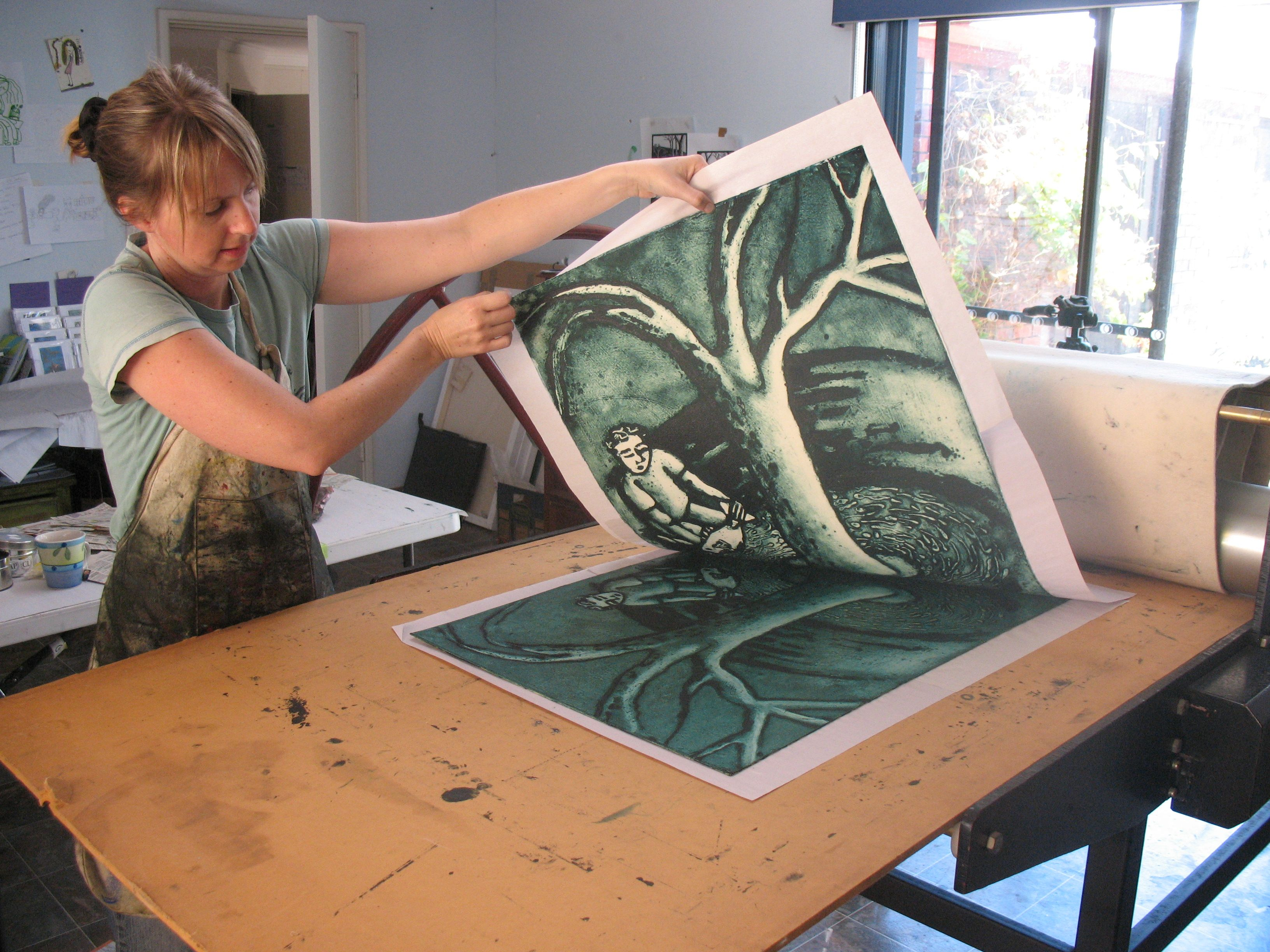 Famous collagraph artists google search with images