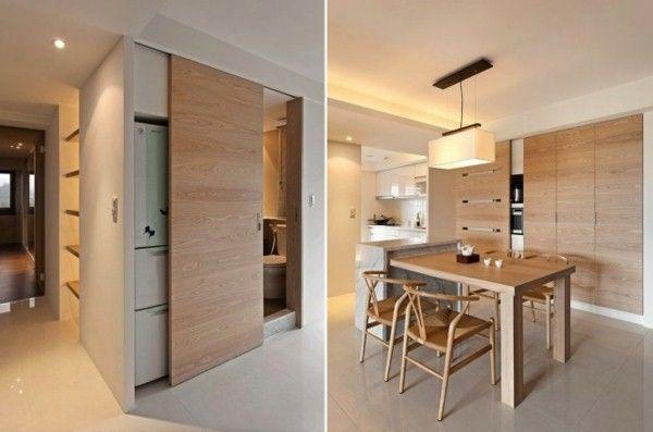 intérieurs idées de conception rétro portes coulissantes en bois