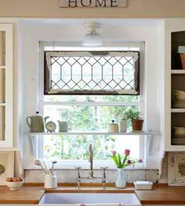 Kitchen Window Treatments Over Sink Valances Shelves