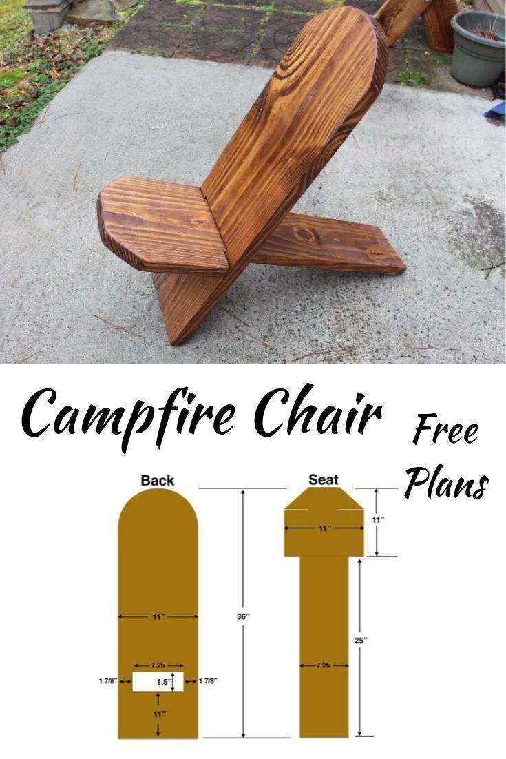 Campfire Chair Plans – Activity Board Selber Machen - Water #woodprojects