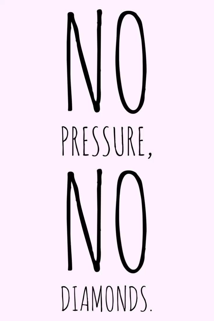 Motivation Monday – no pressure no diamonds