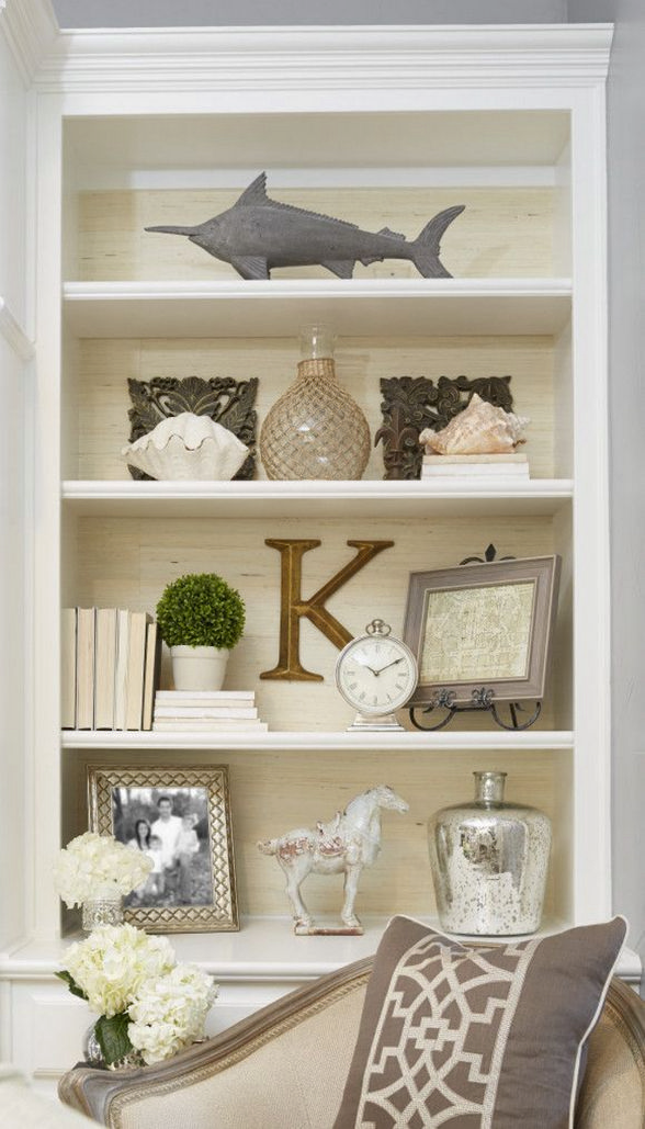 Nice Bookshelf Styling For Decoration Idea 3