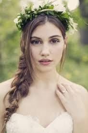 Image result for Side fishtail braid with floral crown
