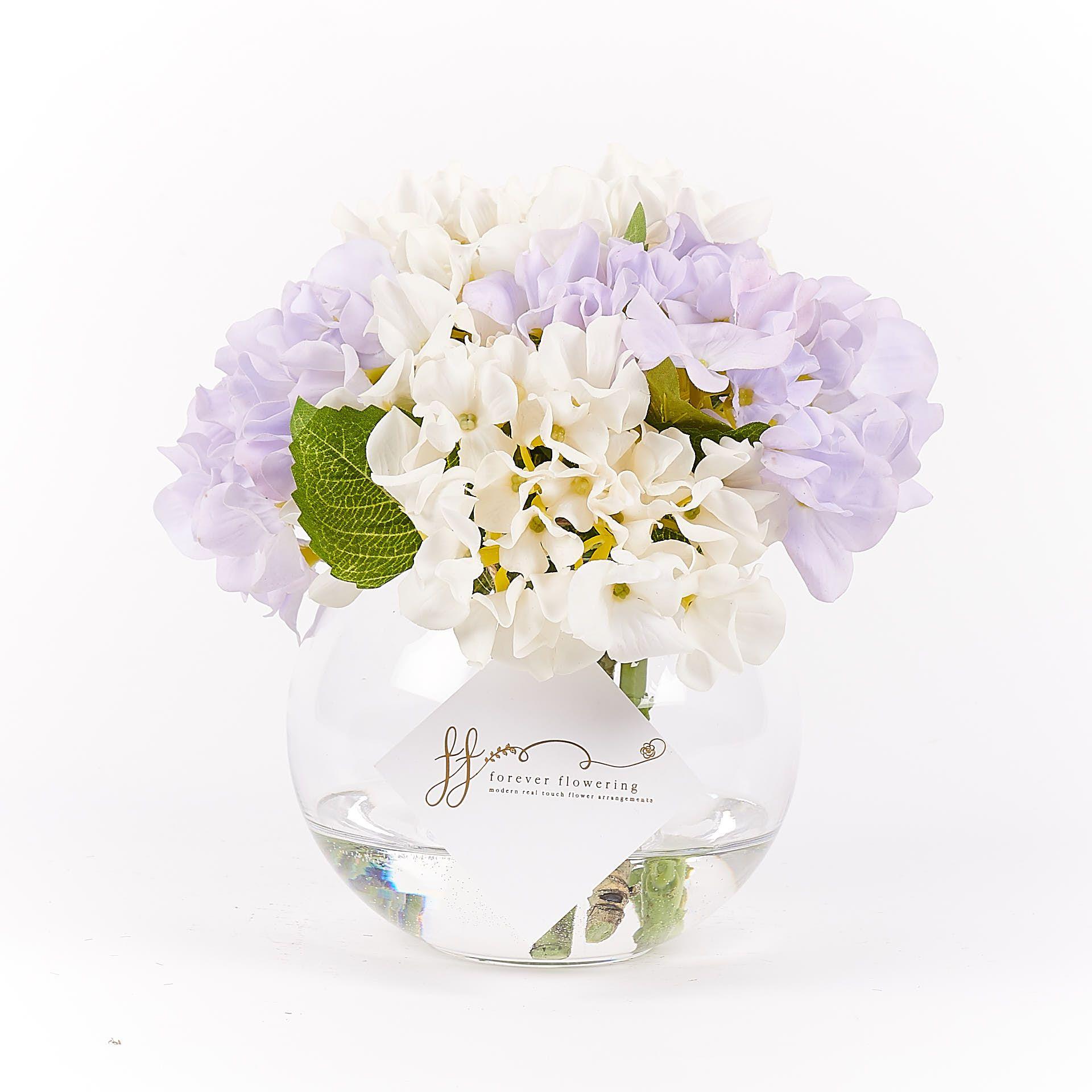 Maisey Hydrangea arrangements, Artificial hydrangeas