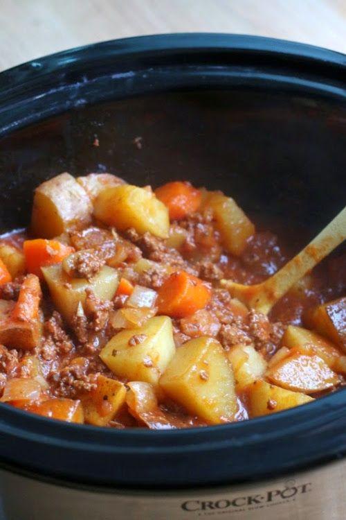 "Crockpot ""poor mans stew""  http://www.themagicalslowcooker.com/2015/02/10/poor-mans-stew/"