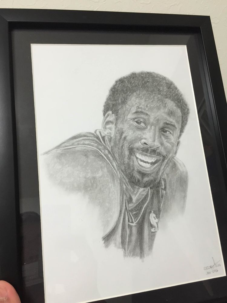 kobe bryant 2000 portrait drawing framed from $70.0 | Drawing ...