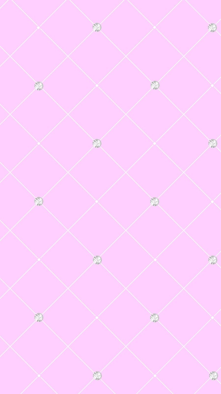 Pastel Pink Check Gems Jewels Iphone Phone Wallpaper Background