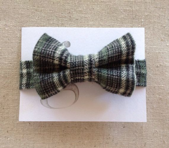Handmade Velcro Boys Bow Tie in Plaid Flannel // by Grace Co. Handmade Etsy