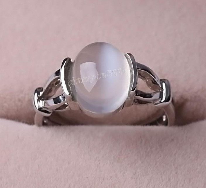 Free Shipping Twilight Jewelry BELLA Swan Silver MOONSTONE Ring