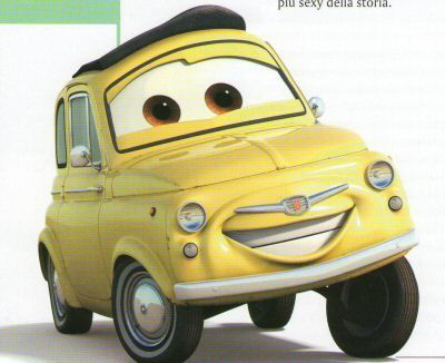 Fiat 500 Ζωγραφιές auto fiat 500 e cartoni animati