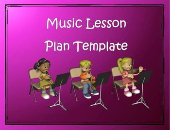 Lesson Plan Template Music Editable