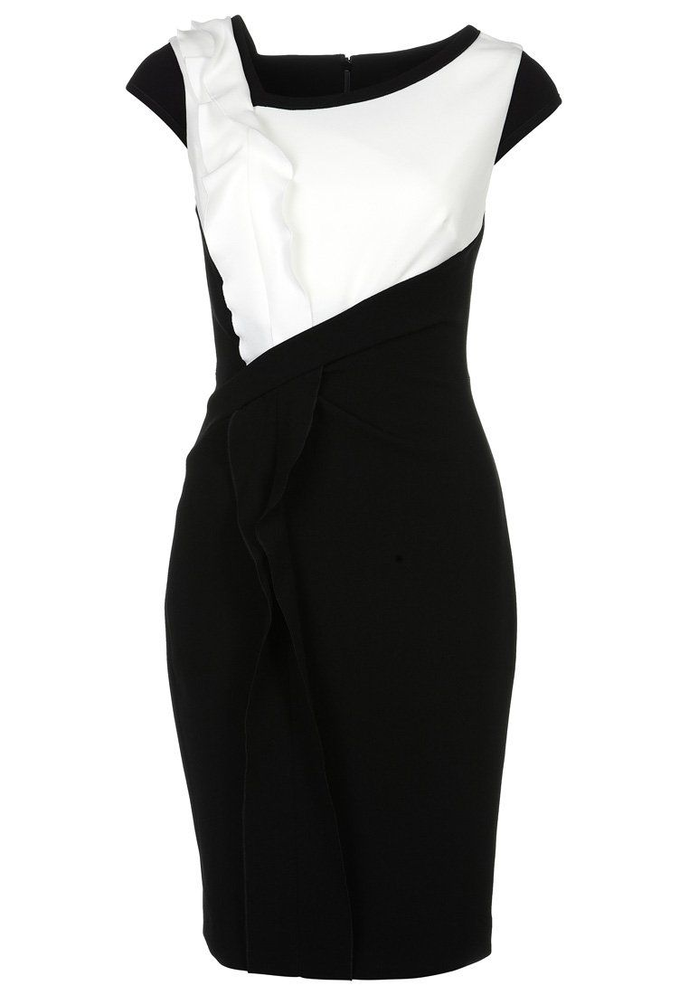 Karen Millen - Cocktailkleid / festliches Kleid - black/white ...
