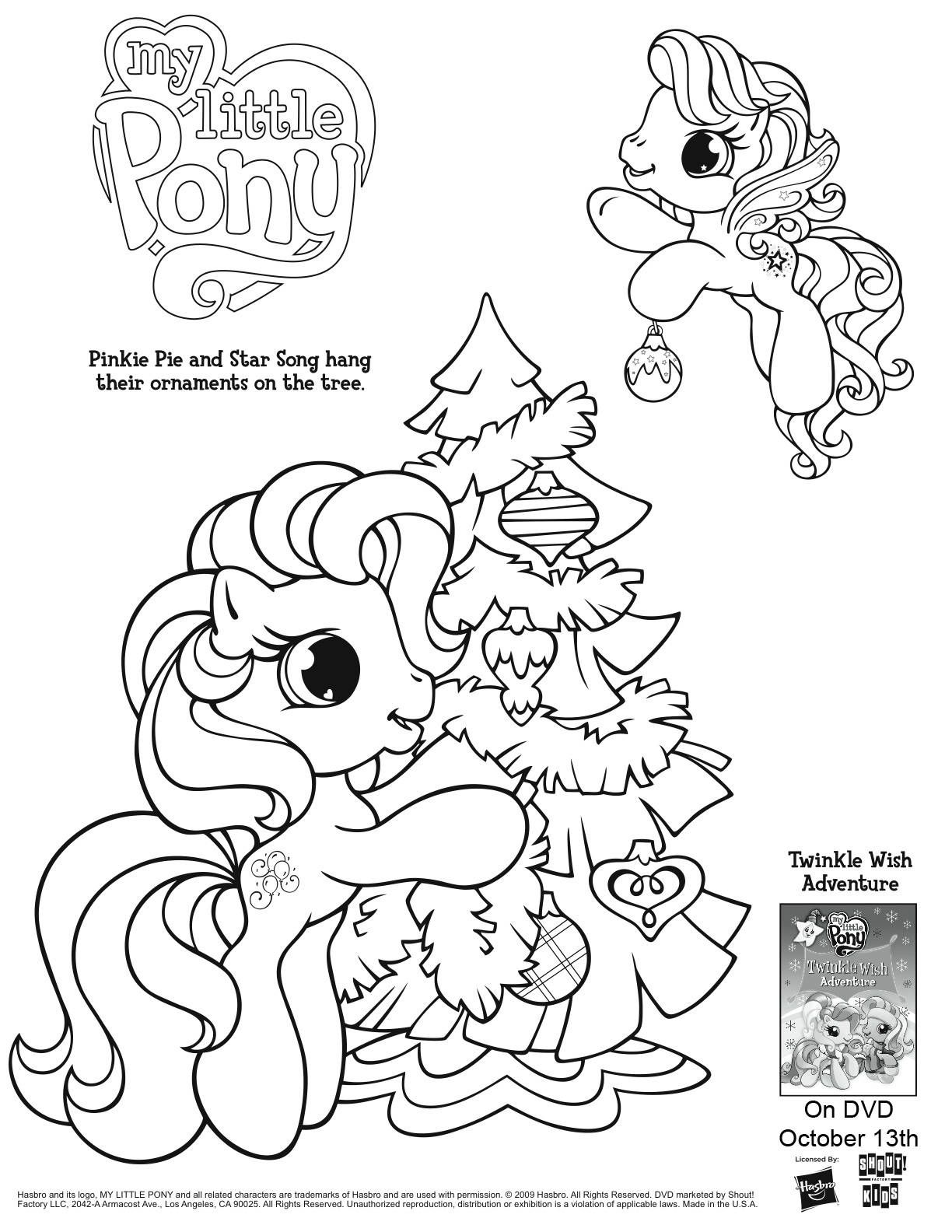 My Little Pony Coloring Page My Little Pony Coloring Christmas Coloring Pages Thanksgiving Coloring Pages