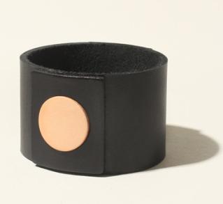 Brook & Lyn handmade leather circle cuff bracelet