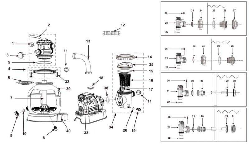 intex pump replacement parts intex krystal clear sandfilter