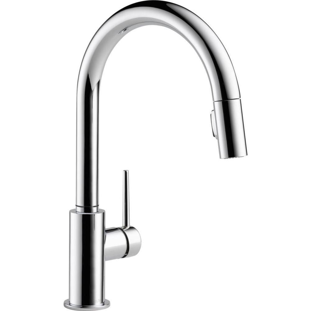 Delta Trinsic Chrome Single Handle Pull Down Kitchen Faucet   Overstock™  Shopping   Great