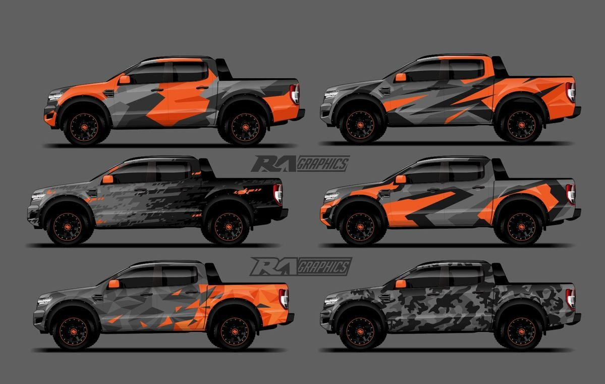 RA Graphic Pack 6 How to paint camo, Truck design