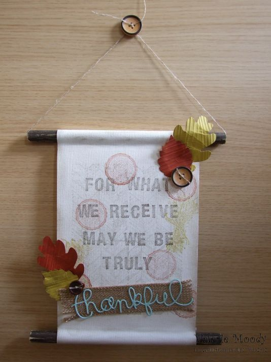 Stampin' Up! - Autumn Wall Hanging - Truly Grateful - Stamping with Val. X