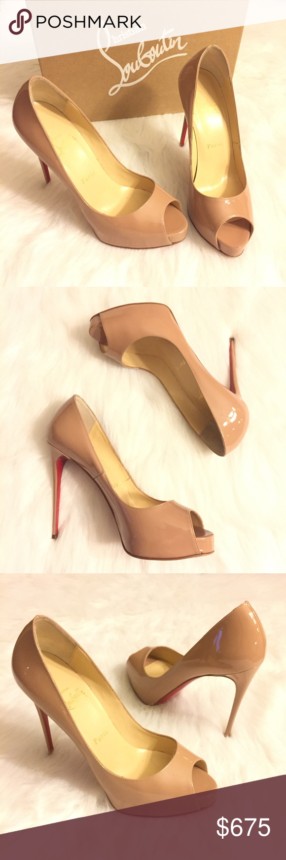 new concept 0d283 a7409 Christian Louboutin New Very Prive Heels Nude 37.5 100 ...