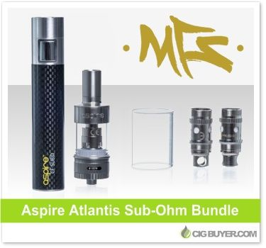 Aspire Atlantis + Sub-Ohm Battery Bundle – Just $58.07: http://www.cigbuyer.com/aspire-atlantis-sub-ohm-tank-battery-bundle/ #ecig #aspire #subohm #vaping #vapedeals