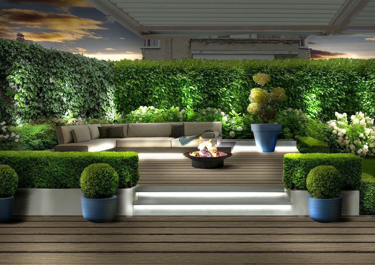 Aree living in giardino molto rilassanti per un giardino